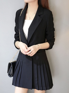 Ericdress Elegant Pleated Blazer