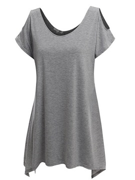 Ericdress Loose Solid Color T-Shirt