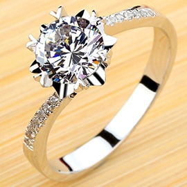 Ericdress Romantic Snowflake Design Ring
