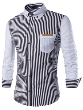Ericdress Stripe Casual Men's Shirt