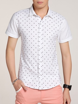Ericdress Polka Dots Casual Wear Short Sleeve Men's Shirt