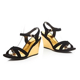 Ericdress Open Toe Plain Wedge Sandals
