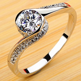 Ericdress Boundless Love Wedding Ring