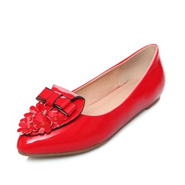 Ericdress Point Toe Bowtie Flats