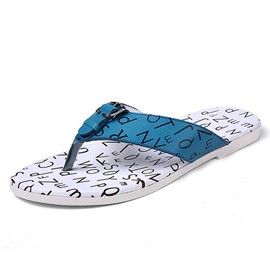 Ericdress Thong Letter Print Men's Slippers