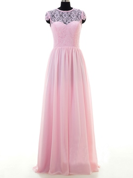 Ericdress Charming A Line Lace Long Bridesmaid Dress