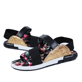 Ericdress Floral Flat Heel Men's Sandals