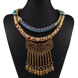 Ericdress Bohemian Metal Tassels Necklace