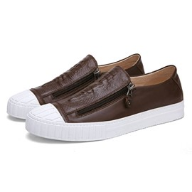 Ericdress Croco Side Zipper Men's Casual Shoes