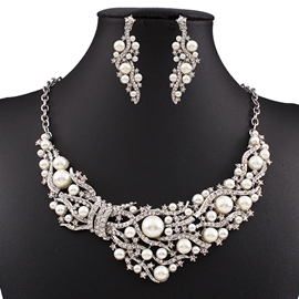 Ericdress Luxury Imitation Pearl Jewelry Set