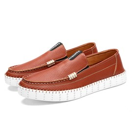 Ericdress Round Toe Flat Heel Slip-On Men's Loafers