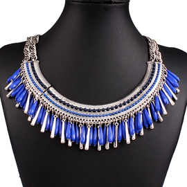 Ericdress Exaggerate All Match Beaded Tassel Necklace