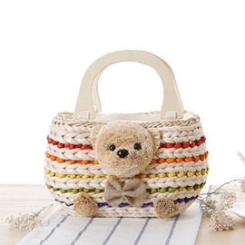 Ericdress Lovely Bear Knitted Handbag