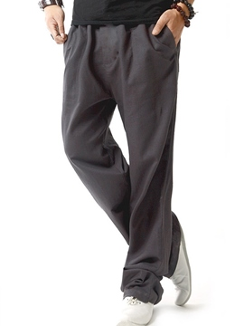 Ericdress Linen Loose Casual Men's Pants