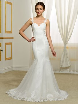 Ericdress Charming Backless Lace Mermaid Wedding Dress