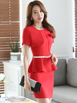 Ericdress Slim Asymmetric Suit