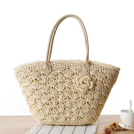 Ericdress Vogue Exquisite Crochet Straw Handbag
