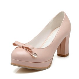 Ericdress Spring Candy Color Chunky Heel Pumps