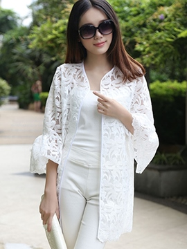 Ericdress Elegant Lace Sun Protective Outerwear