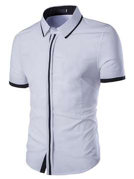Ericdress Simple Short Sleeve Slim Men's Shirt
