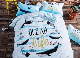 Ericdress Graffiti Ocean Life Cotton Bedding Sets