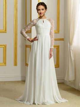 Ericdress Beautiful Long A Line Wedding Dress