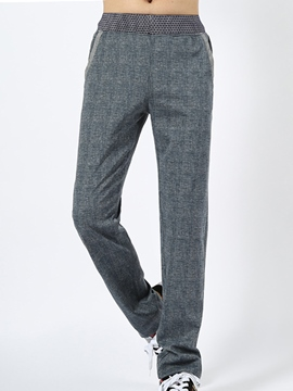 Ericdress Large Size Straight Casual Linen Men's Pants