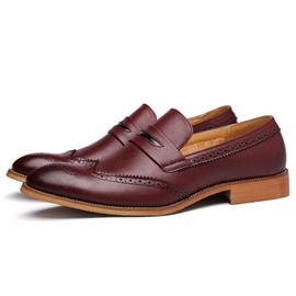 Ericdress Solid Color Square Heel Men's Oxfords