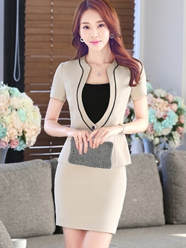 Ericdress Slim V-Neck Formal Suit
