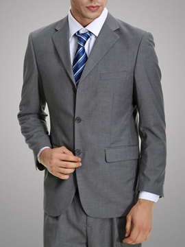 Ericdress Gray All Matched Casual Men's Suit