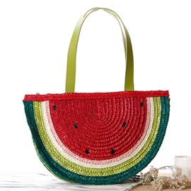 Ericdress Lovely Semi-Circle Watermelon Straw Handbag