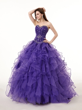Ericdress Sweetheart Ball Gown Beading Crystal Quinceanera Dress
