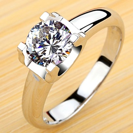 Ericdress Classic 1 Karat Wedding Ring