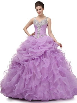 Ericdress Träger Ballkleid Applikationen Sicke bodenlange Quinceanera Kleid