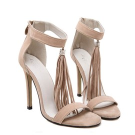 Ericdress Tassels Covering Heel Back-Zip Sandals