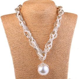 Ericdress Imitation Pearl Pendant Necklace
