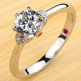 Ericdress True Love Diamond Engagement Ring