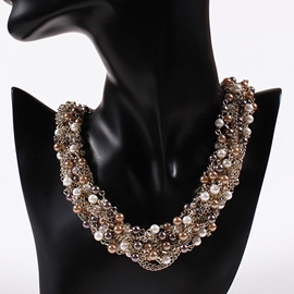 Ericdress Pearls Inlaid Short Necklace