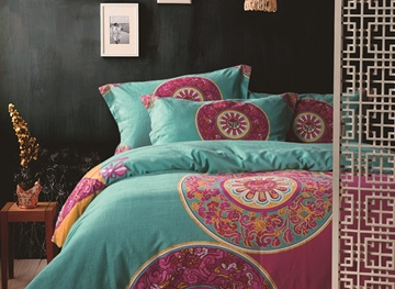 Ericdress Ethnic Colorful Geometric Cotton Bedding Sets