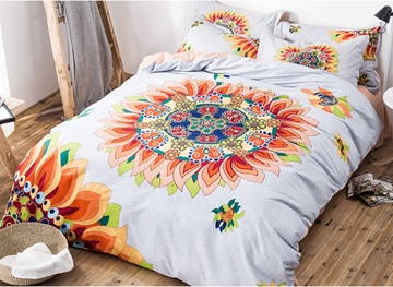 Ericdress Exotic Sunflower Decorated Cotton Bedding Sets