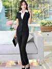 Ericdress Solid Color Short-Sleeve Formal Suit