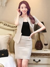 Ericdress One-Button Solid Color Slim Suit