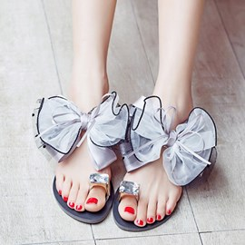 Ericdress Princess Lace Bowknot Slippers