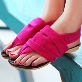 Ericdress Candy Color Thong Flat Sandals