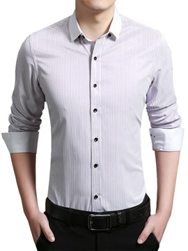 Ericdress Plain Simple Slim Men's Shirt