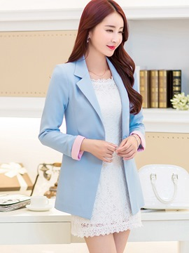 Ericdress Simple Lapel Blazer