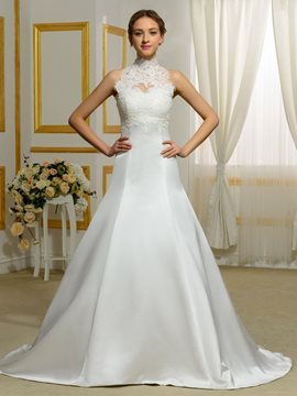 Ericdress High Quality Detachable Collar A Line Wedding Dress
