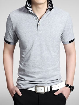 Ericdress Short Sleeve Polo Casual Men's T-Shirt