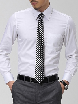 Ericdress Plain Long Sleeve Pocket Business Men's Shirt