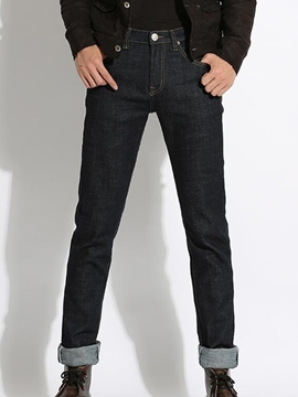 Ericdress Straight Slim Denim Men's Pants